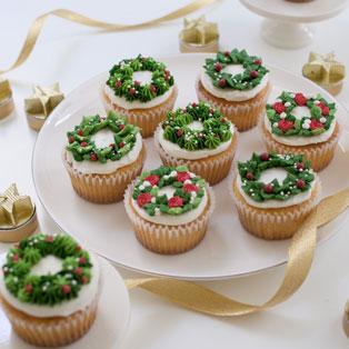 クリスマスリースカップケーキ【上杉純子先生】